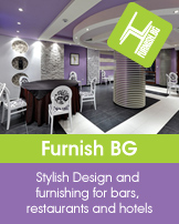 Design and furnishing for bars, restaurants and hotels